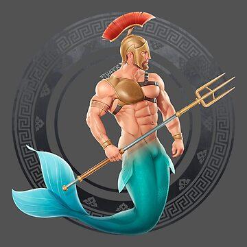 Gladiator Merman by FuhrerDoodles