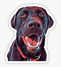 Earvin the Chocolate Lab  Sticker