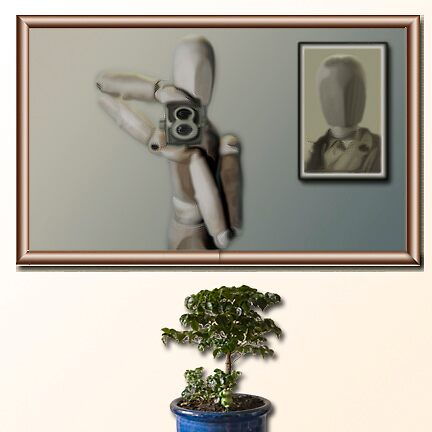 Self Portrait with plant by Boadicea