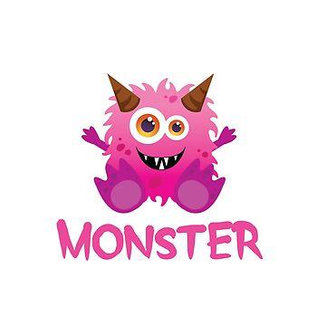 Monster - Pink Child by hawklawson