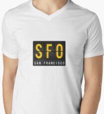 SFO - San Francisc Airport Code Men's V-Neck T-Shirt