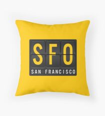 SFO - San Francisc Airport Code Throw Pillow