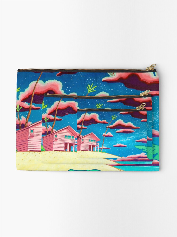 Alternate view of bungalow Zipper Pouch