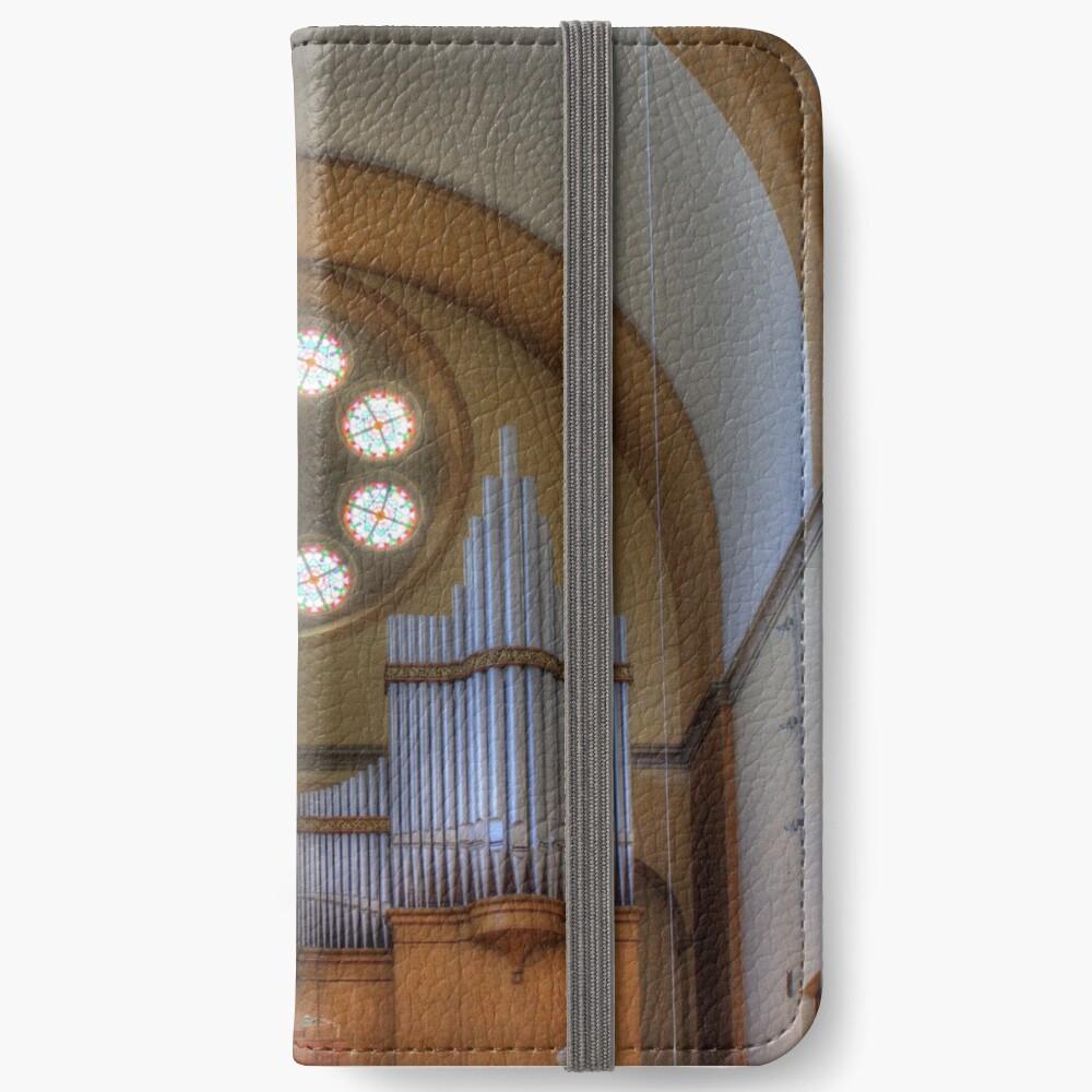 Pipe Organ St. Francis of Assisi Church, Vienna Austria iPhone Wallet