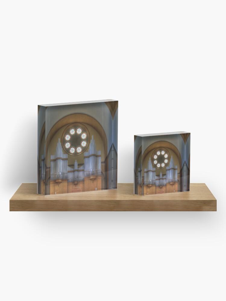Alternate view of Pipe Organ St. Francis of Assisi Church, Vienna Austria Acrylic Block