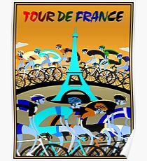 TOUR DE FRANCE; Bicycle Racing Advertising Print Poster