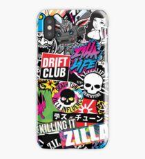 Stickerbomb - 2018 ZILLA X DEATHTUNE Pattern iPhone Case/Skin