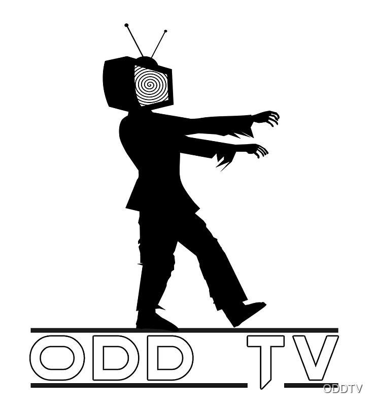 u0026quot odd tv television zombie logo u0026quot  stickers by oddtv