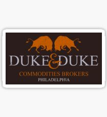 Trading Places - Duke and Duke Commodities Brokers Sticker