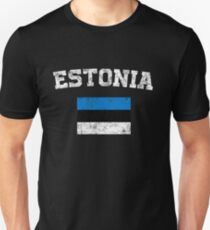 Estonian Flag Shirt - Vintage Estonia T-Shirt T-Shirt