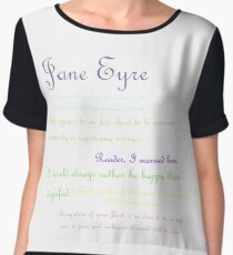 Jane Eyre Quotes Women's Chiffon Top