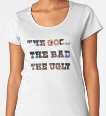 The Good, The Bad and The Ugly Premium Scoop T-Shirt