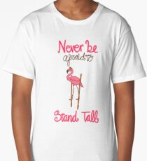Pink Flamingo on Stilts Long T-Shirt