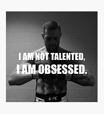 Obsessed Conor McGregor Photographic Print