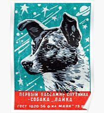 1957 Laika der Space Dog Poster