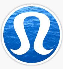 lululemon blue ocean Sticker