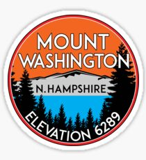 MOUNT WASHINGTON NEW HAMPSHIRE MOUNTAIN CLIMBING HIKING EXPLORE 5 Sticker