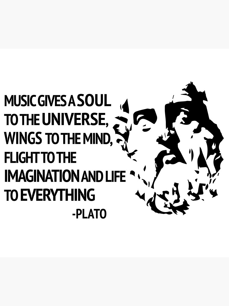 Plato Quote About Music Poster By Pianocub Redbubble