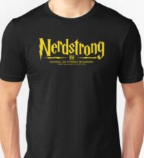 Nerdstrong - House Colors Gold and Black Unisex T-Shirt