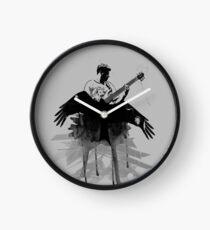 Music makes me fly... Retro - Grunge - Vintage Clock