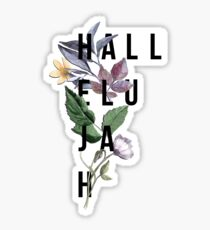 Hallelujah - Christian Typography - Floral Sticker