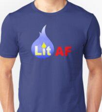 Lit AF (Blue Flame) T-Shirt