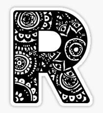 R Capital Doodle Letter Sticker