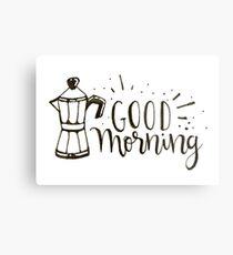 Good Morning - Coffee Illustration Metal Print