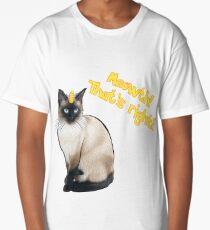 Real Life Meowth Long T-Shirt