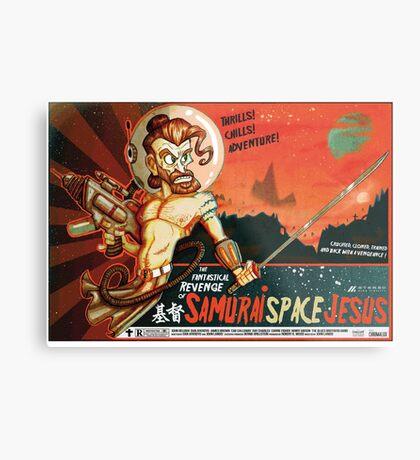 Samurai Space Jesus Metal Print