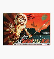 Samurai Space Jesus Photographic Print