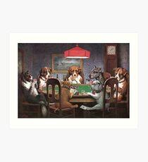 Dogs Playing Poker Art Print