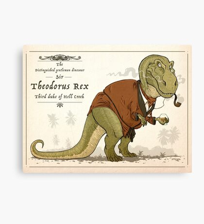 Gentleman Rex Canvas Print