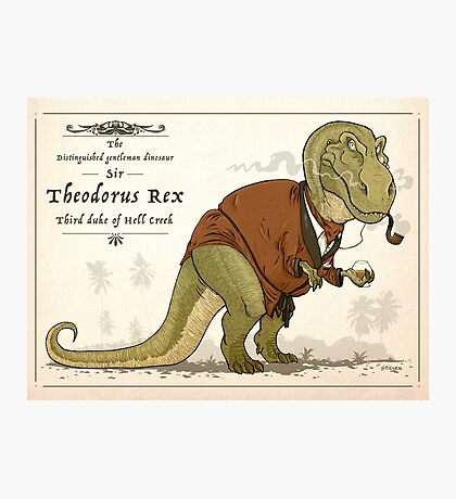 Gentleman Rex Photographic Print