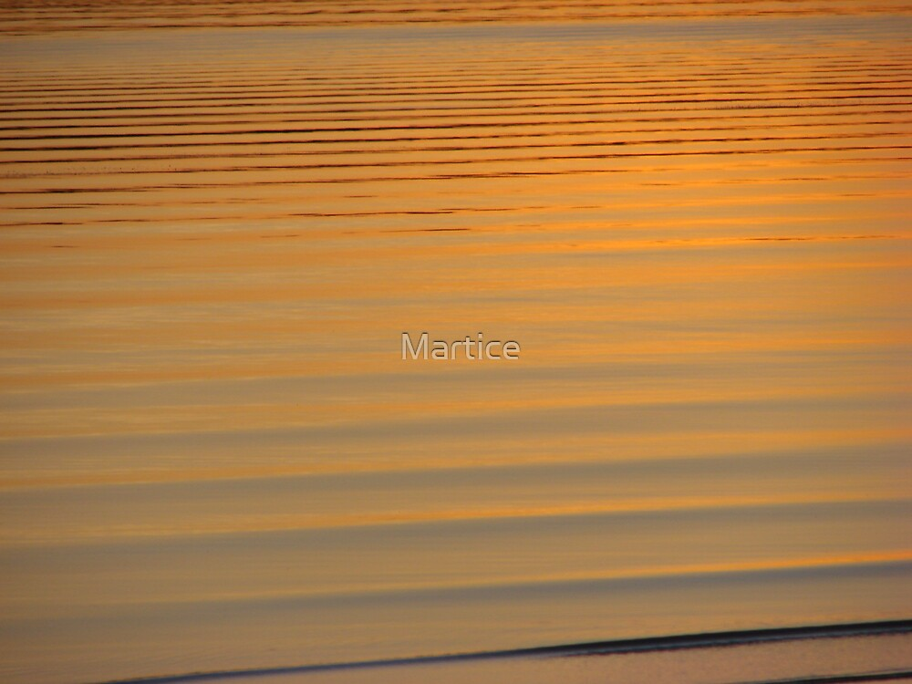 Orange Sunset Ripples by Martice