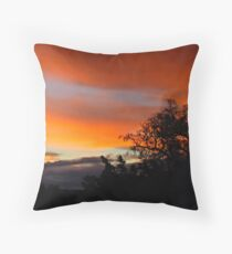 Sunset Orange Throw Pillow