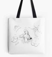 Mermaid Treasures (Black & White Ver.) Tote Bag