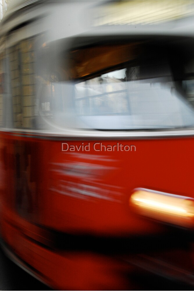 Speeding Tram by David Charlton