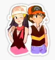 Ash & Dawn - Overprotective Sticker