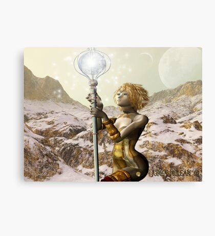 1st Trial of the Dragon Sorceress Apprentice Canvas Print