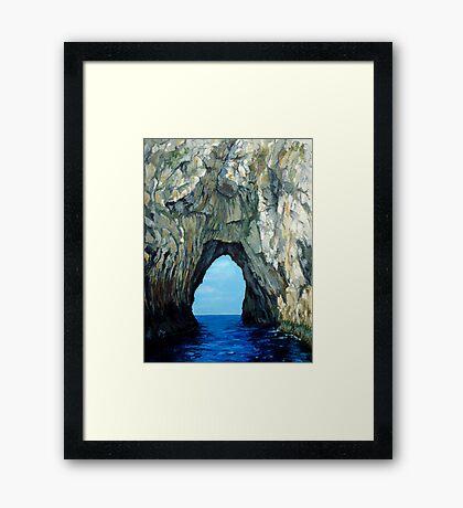 Capri Sailing (Reworked) Framed Print