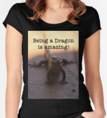 Being a dragon is amazing! Women's Fitted Scoop T-Shirt