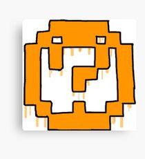 Question mark emblem Canvas Print