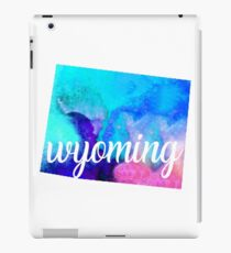 Wyoming - Water Color  iPad Case/Skin