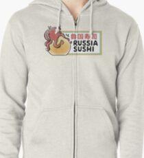 Russia Sushi Zipped Hoodie