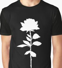 White Rose Silhouette Graphic T-Shirt