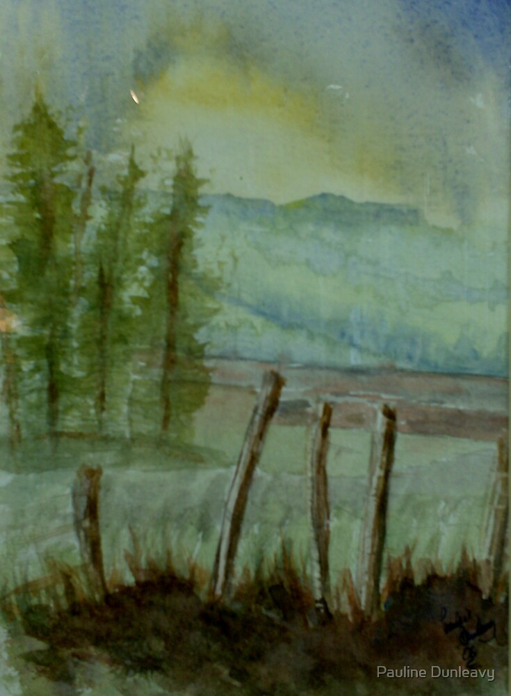 Mountain Mists (7 x 9 inches) by Pauline Dunleavy