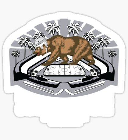2014 LA Stadium Game T-Shirt (White Text) Sticker
