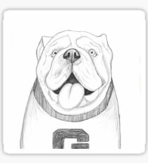 Sketch Bulldog Sticker