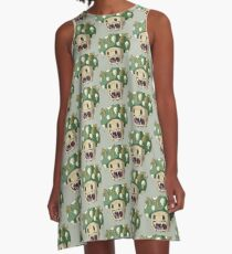 Challenge of The Green Demon A-Line Dress